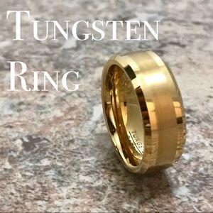 Other - 8MM Gold Two Tone Tungsten Ring Band